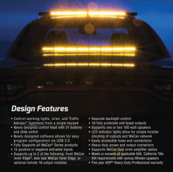 Whelen Cencom Carbide CCSRN-4 Siren Light Controller System
