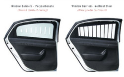 Setina Ford Explorer Police SUV Window Barrier Guards, Pair, Kit, Choose Steel or Polycarbonate Plastic
