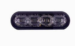 """SoundOff Signal mPOWER Fascia 3"""" Perimeter Stud Mount or Optional Hood Mount, Grille Light Head, 8 LED dual colors per light head, fits perfect in the Ford Police Interceptor Utility SUV (Explorer) grille"""