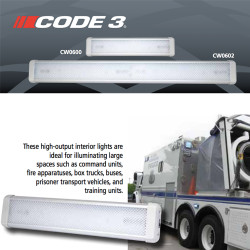 "Code-3 600 Series 18' or 33"" Interior Dome Light, Interior Compartment Light"