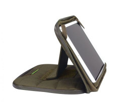 "Propper® 8"" Tablet Case with Stand that holds tablet horizontally at various angles, available in Black, Coyote Brown and Olive Green, F5637"