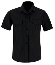 Propper® Women's Summerweight Tactical Button-Down Shirt, Short Sleeve, 94% polyester and 6% spandex ripstop, available in black, khaki, olive and LAPD Navy, F5376