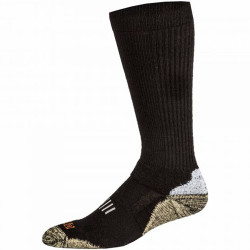 5.11 Tactical Merino OTC Men's Boot Sock, Ankle and arch support, Black 10024