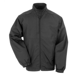 5.11 Tactical LINED PACKABLE JACKET, Warm, comfortable, wind resistant, Folds quickly into its own compact pouch, Stows easily in a truck, bag, or locker, Black, 48052019