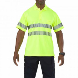 5.11 Tactical Men's High-Visibility Short Sleeve Polo Shirt, available in Hi-Vis Yellow 41007