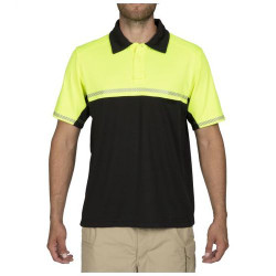 5.11 Tactical Men's Bike Patrol Short Sleeve Polo Shirt, Integrated Reflex Tape for Added Visibility, available in Hi-Vis Yellow or Royal Blue 71322