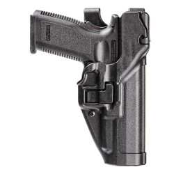 BLACKHAWK SERPA® LEVEL 3 DUTY HOLSTER, FEATURING AUTO-LOCK™ TECHNOLOGY, Full-length holster body protects rear sights, Includes innovative Jacket Slot Duty Belt Loop, 44H1