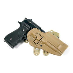 BLACKHAWK S.T.R.I.K.E.® PLATFORM WITH SERPA® HOLSTER, BERETTA ONLY, Ambidextrous adapter platform, available in Coyote Tan and Foliage Green, 40CL01