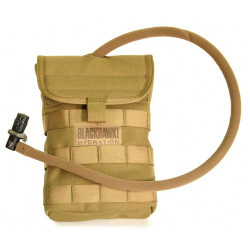 BLACKHAWK SIDE HYDRATION POUCH, Mount on side, back, front or backpack using Speed Clips™, holds up to 40 ounces of liquid, avilable in Black and Coyote Tan, 65SH00