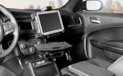 """Gamber Johnson 7170-0137-05 Dodge Charger Police Package (2011+) Console Box with Cup Holder, Armrest and 6"""" Locking Slide Arm Motion Attachment Kit"""
