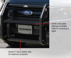 Go Rhino Push Bumper for Ford Police Interceptor Utility SUV (Explorer)  Heavy Duty Wrap Around