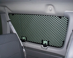Ford E-Series Extended Van with Swing Out Doors and 9 Window Guard Kit by Havis 1994-2014