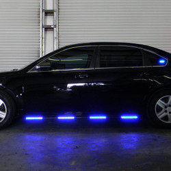 HG2 2pc LED Side Runner Kit for Police Sedans SUV's and Truck Vehicles