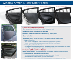 Rear Window Barrier Guards for 2015+ Chevy Tahoe by Pro-Gard, Pair, Kit