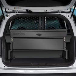 Setina's combination Cargo Box. Made with heavy duty, light-weight aluminum. Universal Design for The 2013 Ford Interceptor SUV.
