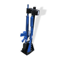 Progard Police Vehicle Gun Rack with Universal Tri-Lock Vertical Partition Cage