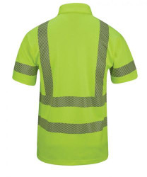 Propper® ANSI III Tactical Polo, Short Sleeve, 94% polyester / 6% spandex, Hi-Viz Reflective Yellow, includes optional epaulet and badge holder kit,  F537972399