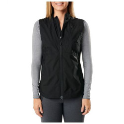 5.11 Tactical WOMEN'S CASCADIA WINDBREAKER PACKABLE VEST, 100% Polyester lightweight fabric w/DWR finish, Center back elastic-cinched waist, 65001