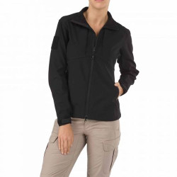 5.11 Tactical WOMENS SIERRA SOFTSHELL, 100% polyester stretch fabric outer, Polyester micro-fleece inner, Lined hand-warmer pockets, 38068