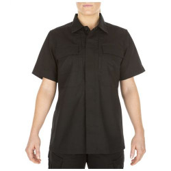 5.11 Tactical WOMEN'S TACLITE® TDU® SHORT SLEEVE SHIRT, Lightweight, durable, breathable, Tough melamine buttons, Badge tab and epaulette kit included, 61025