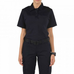 5.11 Tactical WOMEN'S RAPID PDU® SHORT SLEEVE SHIRT, Dual-fabric construction for durability and movement, Moisture-wicking and quick-dry for comfort, Midnight Navy, 61304750