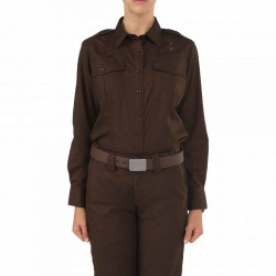5.11 Tactical WOMEN'S TACLITE® PDU® CLASS A LONG SLEEVE SHIRT, polyester/cotton ripstop fabric, Lightweight, durable, Enhanced range of motion and ventilation, Secure chest pockets, 62365