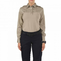 5.11 Tactical WOMEN'S RAPID PDU® LONG SLEEVE SHIRT, 55% cotton / 37% polyester / 8% spandex body, 65% polyester / 35% cotton twill shoulders and sleeves, Moisture-wicking and quick-dry for comfort, 62372