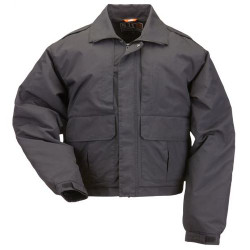 5.11 Tactical DOUBLE DUTY JACKET™, Adaptable weather protection, High performance nylon shell, Breathable polyester liner, Badge tab kit included, 48096