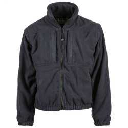 5.11 Tactical 5-IN-1 JACKET™, High performance waterproof and breathable patrol shell, forearm sleeve pocket, Roll-up and removable hood, Removable fleece inner jacket with zip-off sleeves, Removable ID panels on chest and back, 48017