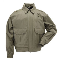 5.11 Tactical 4-IN-1 PATROL JACKET™, Waterproof, breathable, all-weather comfort, Side Zippers for ventilation and access to sidearm, Removable ID panel on back, Removable hood, Removable fleece liner, 48027