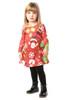 Red Magical Children's Christmas Swing Dress