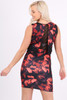 Jess Red Floral Bodycon Dress