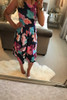 Navy Elizabeth Floral Skater Dress