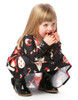 Vintage Multi Pattern Children's Christmas Swing Dress
