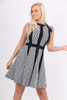 Kayleigh Black & White Knitted Panelled Dress