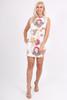 White Floral Fusion Dress