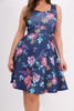Cypress Navy Floral Skater Dress