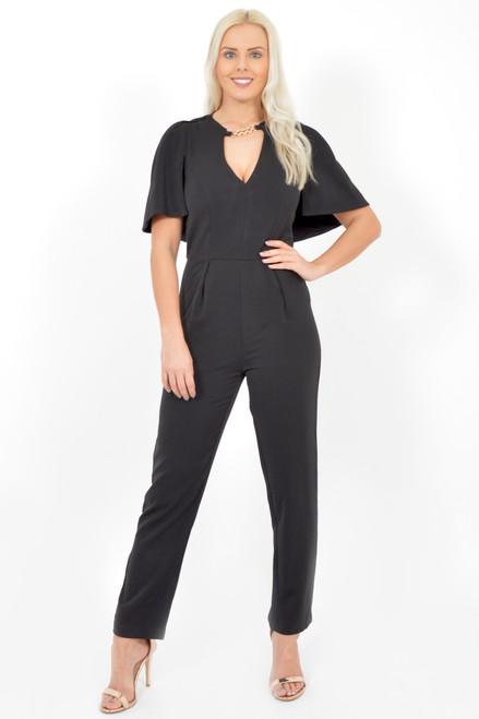 Vivian Black Chain Jumpsuit
