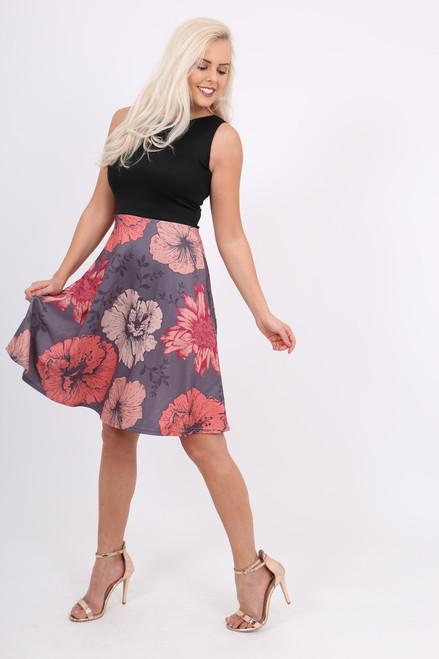 Libby Contrast Skater Dress