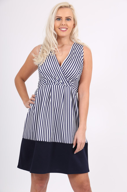 Navy Band Monochrome Wrap Skater