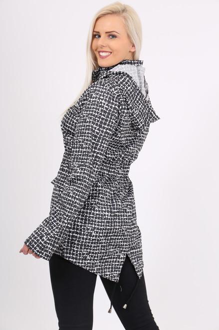Monochrome Rain Coat