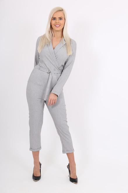 Grey Blazer Jumpsuit