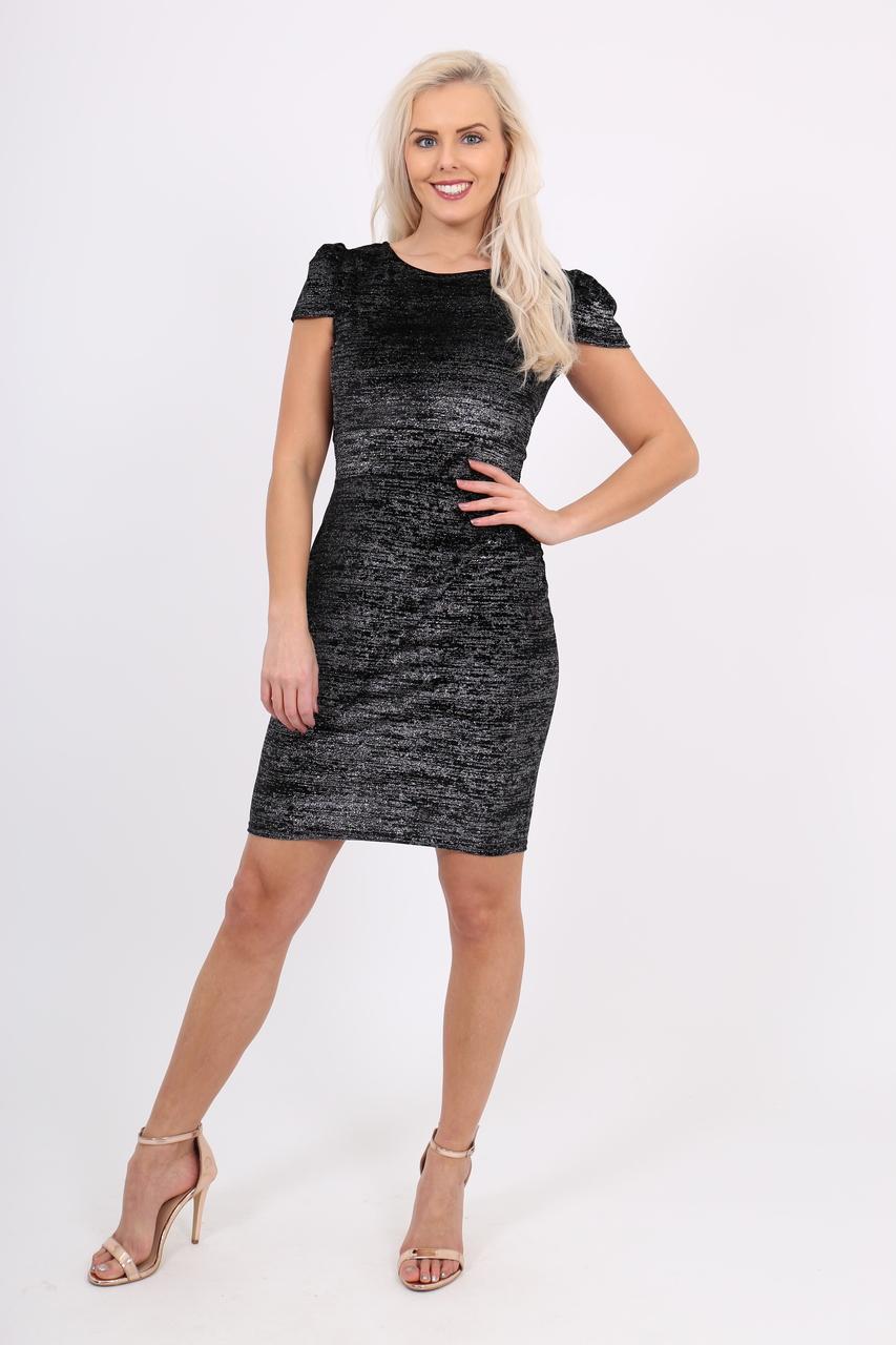 Lux Black Glitter Stella Dress