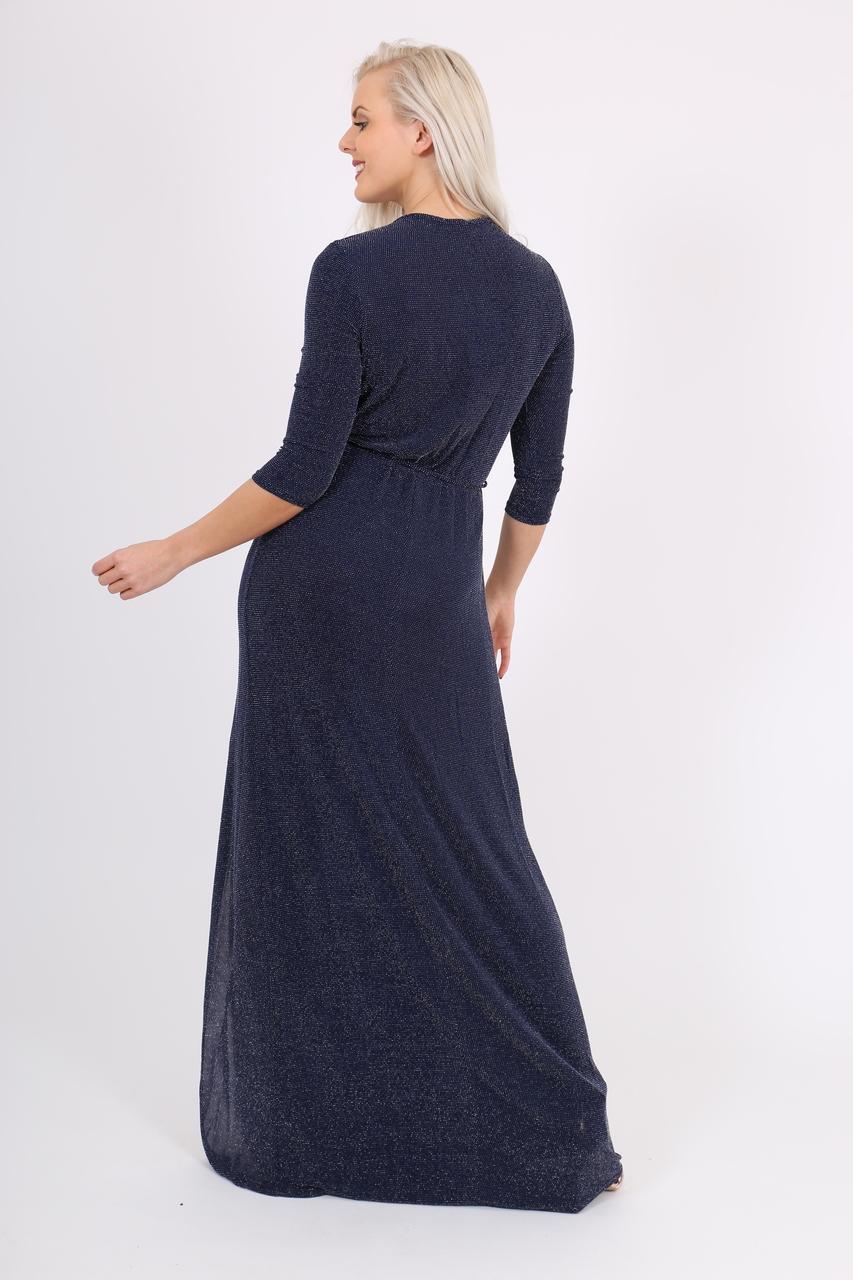 Evianna Navy Glitter Maxi Dress