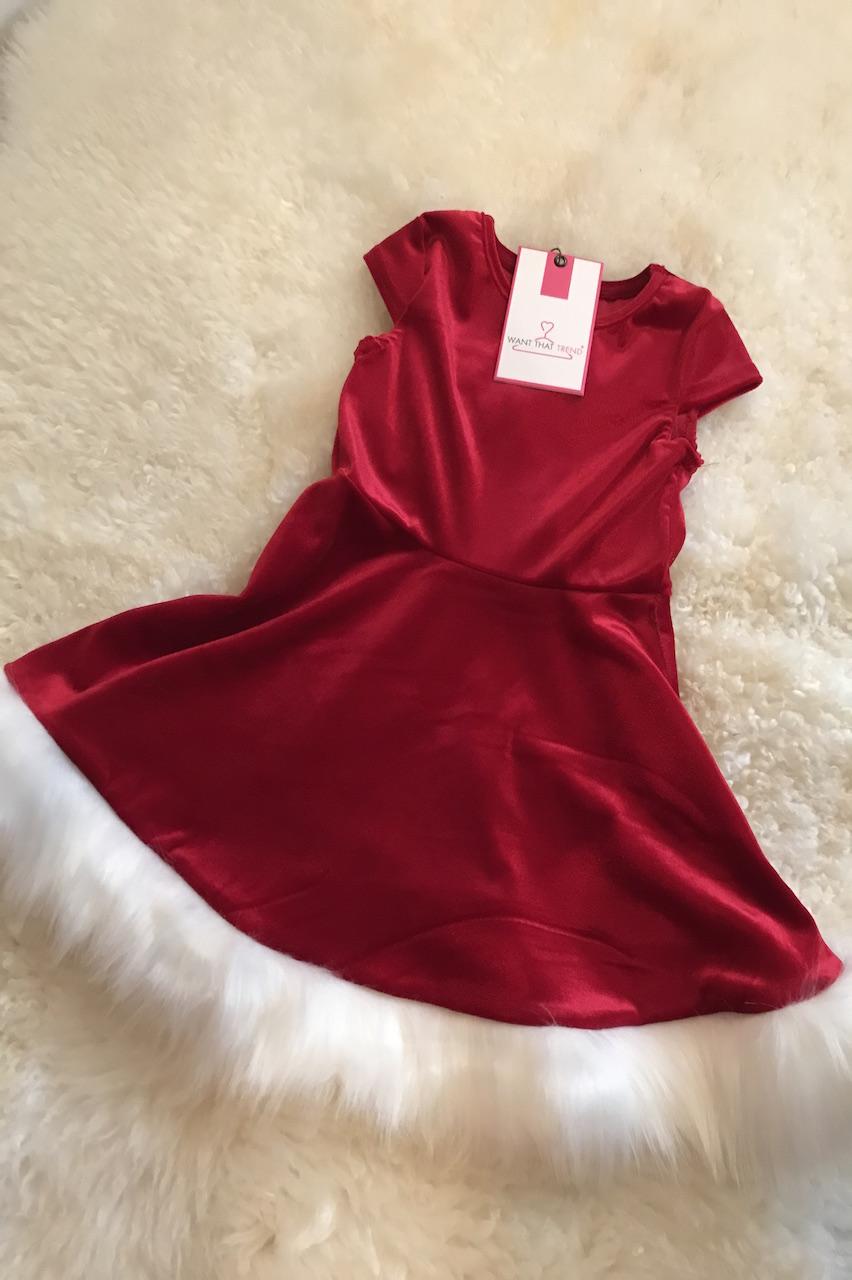 Children's Luxury Velvet Santa Dress