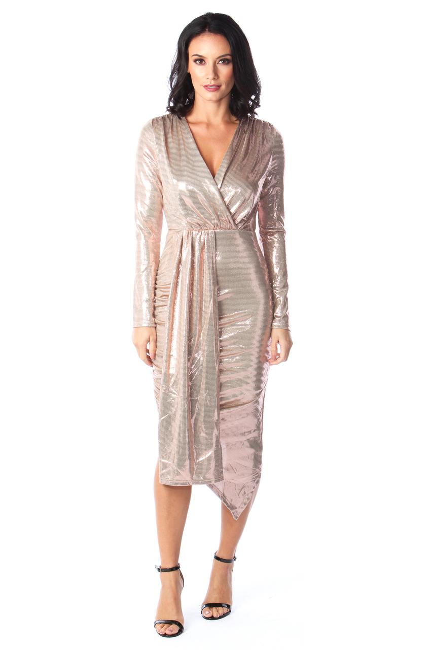 Gold Shimmer Sorento Bodycon Dress
