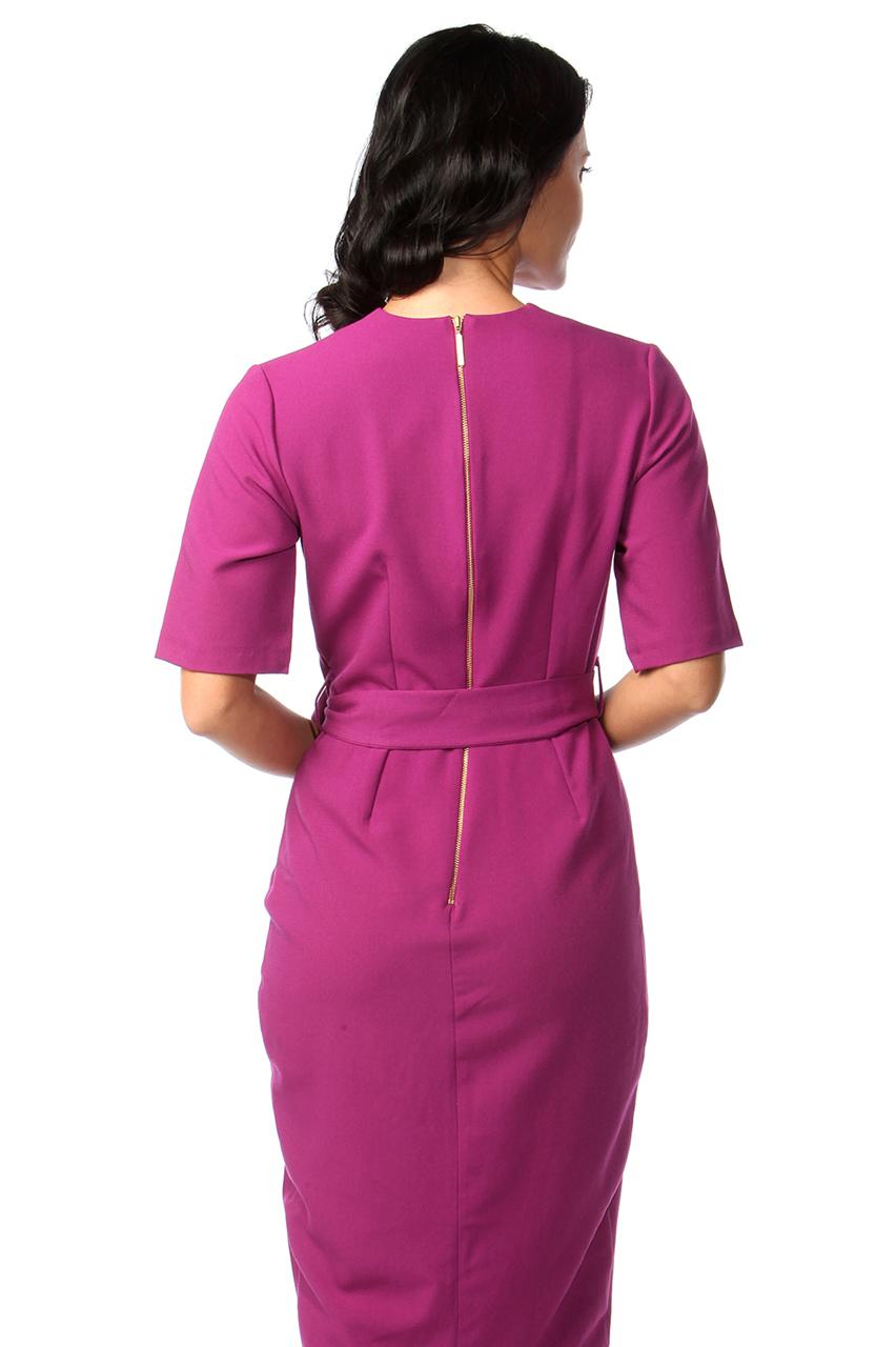 Cia Magenta Wrap Bodycon Dress