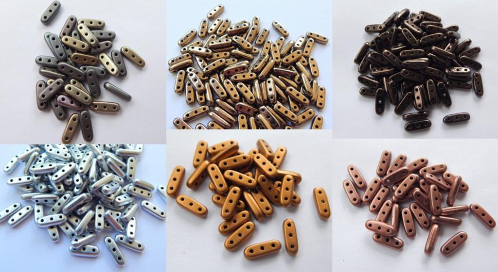 Czechmate Beam Beads Metallic Finishes - Choose Colors