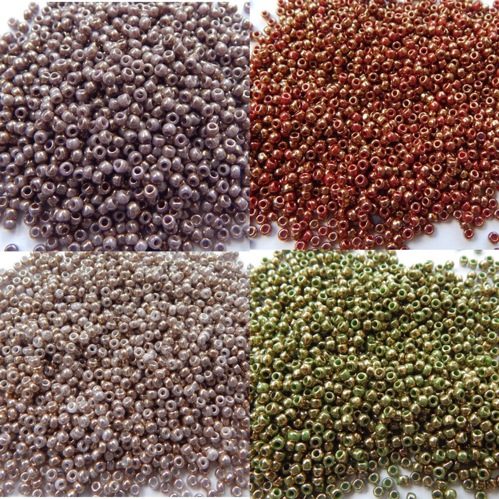 11/o TOHO Seed Beads Guilded Gold Marble Colors 25g - Choose Color