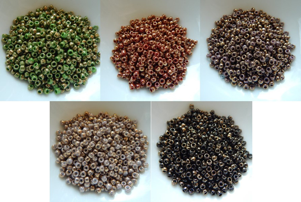 8/o TOHO Seed Beads Guilded Marble Colors 25g - Choose Color